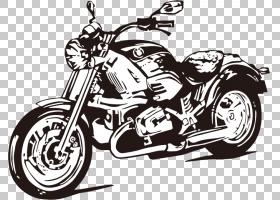 摩托车绘图,摩托车PNG剪贴画摄影,摩托车卡通,摩托车矢量,单色,贴