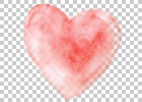 水彩画心脏,水彩心脏,桃红色心脏枕头PNG clipart水彩叶子,心,卡