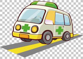 救护车卡通海报,救护车材料PNG剪贴画紧凑型车,png材料,汽车,生日