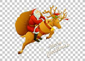 圣诞老人Clauss驯鹿圣诞老人Clauss驯鹿鲁道夫,圣诞老人与驯鹿PNG