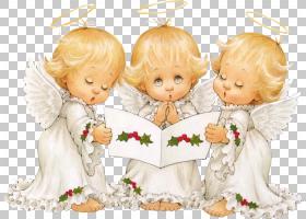 圣诞老人HOLLY BABES圣诞天使,天使PNG剪贴画儿童,虚构人物,卡通,