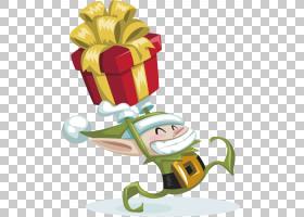 圣诞老人圣诞节礼物圣诞节矮子,圣诞节礼物PNG clipart愿望,食品,
