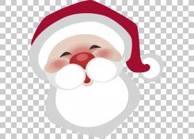 圣诞老人圣诞节胡子,圣诞节白胡子爷爷PNG clipart白色,帽子,人,