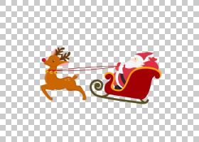 圣诞老人驯鹿圣诞卡圣诞节装饰品,圣诞老人PNG clipart马,假期,橙