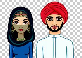 在家庭穆斯林,一对年轻夫妇PNG剪贴画爱,孩子,文化,脸,夫妇,头,爱