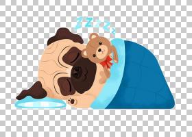 在服装的哈巴狗英国大型猛犬牛头犬小狗,动画片小狗睡觉地图PNG c