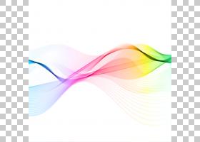 声波颜色,彩虹声波曲线,彩色波PNG剪贴画生日快乐矢量图像,波浪图