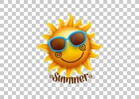 夏天图画股票,动画片太阳PNG clipart卡通人物,电脑壁纸,颜色,笑