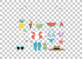 夏天欧几里得元素,海滩度假PNG剪贴画摄影,徽标,生日快乐矢量图像