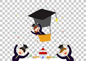 学生Estudante,研究生PNG剪贴画人,毕业典礼,颜色,研究生,卡通,鸟