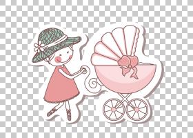 婴儿出生婴儿淋浴母亲,卡通小女孩儿童PNG剪贴画爱,孩子,食品,时