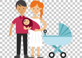 婴儿母亲父亲儿童蹒跚学步,夫妇抱着婴儿PNG剪贴画爱,婴儿公告卡,