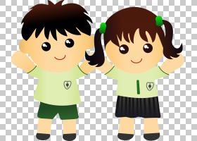 学生学校制服男孩,可爱的孩子们照片PNG剪贴画孩子,手,人民,友谊,