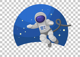 宇航员欧几里得外太空,宇航员PNG剪贴画浮动,蓝色,宇宙飞船,电脑