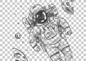 宇航员绘图欧几里得,宇航员PNG剪贴画角,手,单色,人类,生日快乐矢