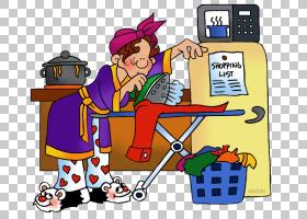 家庭主妇工作内容,职业的PNG剪贴画卡通,女人,版税,技术,股票插图