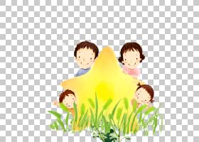 家庭卡通,家庭PNG剪贴画爱,孩子,叶,手,人民,友谊,电脑壁纸,男孩,