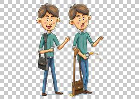 卡通人漫画,背包拿着一杯人PNG剪贴画孩子,人们,幼儿,男孩,剪影,