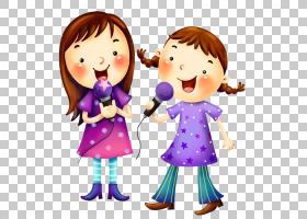 卡通儿童歌曲YouTube,歌唱儿童PNG剪贴画紫色,孩子,友谊,蹒跚学步