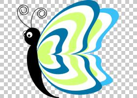 卡通内容,蝴蝶卡通PNG剪贴画杂项,叶,其他人,花,鸟,网站,线,生物,