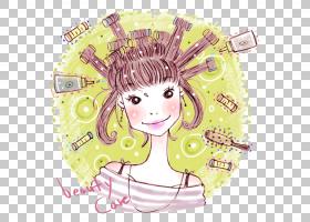 卡通制作,向上海报美容,彩绘眼线笔化妆PNG剪贴画水彩画,化妆品,