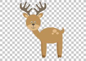 卡通动物,黄色卡通小动物鹿PNG剪贴画卡通人物,鹿茸,漫画,哺乳动