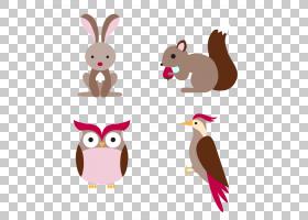 卡通动物,(4)卡通森林动物材料PNG剪贴画卡通人物,摄影,脊椎动