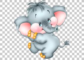 卡通大象,可爱的卡通大象,灰色Dumbo PNG剪贴画哺乳动物,carnivor