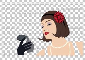 卡通女人女孩,香水女孩PNG剪贴画杂项,画,时尚女孩,黑头发,手,化