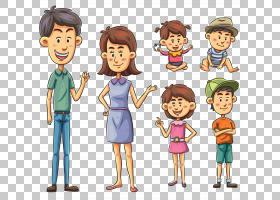 卡通家庭绘图,家庭PNG剪贴画孩子,人民,公共关系,友谊,幼儿,男孩,