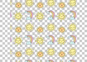 卡通彩虹花艺设计,彩虹太阳PNG剪贴画插花,纺织,卡通太阳,花,太阳