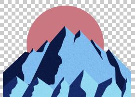 卡通日出雪,雪山日出PNG剪贴画紫色,蓝色,角度,冬季,电脑壁纸,时