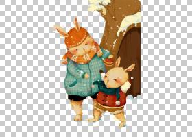 卡通母亲,兔子母亲和儿子PNG剪贴画儿童,动物,儿童,母亲S,兔子,插