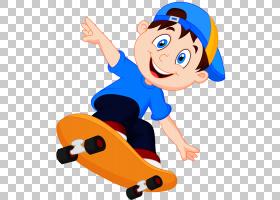 卡通滑板图片摄影,滑板男孩PNG剪贴画孩子,帽子,手,人,运动器材,