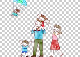 卡通父母孩子,家庭PNG剪贴画漫画,摄影,人民,海报,友谊,蹒跚学步,