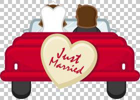卡通版税,刚刚结婚的PNG剪贴画爱,假期,摄影,婚礼,心脏,标志,情侣