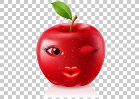 卡通版税,苹果,卡通表达苹果材料PNG剪贴画卡通人物,天然食品,食