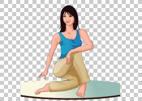 卡通瑜伽,瑜伽PNG剪贴画体育健身,健身,手,版税,体育,瑜伽标志,女