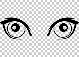 卡通眼,女人眼睛PNG剪贴画杂项,角度,文本,徽标,单色,免版税,绘图