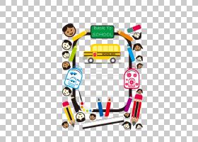 卡通绘图儿童绘画,创意校车PNG剪贴画铅笔,学校用品,校车,生日快