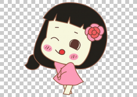 卡通脸动画,卡通女孩脸部特写PNG剪贴画卡通人物,孩子,脸,时尚女