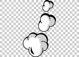 卡通黑色和白色,云爆PNG剪贴画白色,文本,手,摄影,心,单色,爆炸,