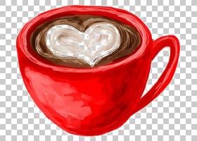 咖啡杯茶甜甜圈咖啡厅,马克杯PNG剪贴画爱,白色,画,手,心,咖啡,卡