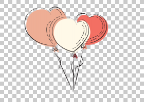 卡通,气球创意PNG剪贴画爱,其他,心,创意艺术品,心,创意广告,封装