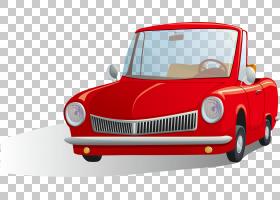 卡通,红色精致的车PNG剪贴画紧凑型汽车,敞篷车,漫画书,时尚,汽车