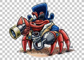卡通,螃蟹海盗队长PNG剪贴画漫画,人民,漫画家,船长,我们男人,虚