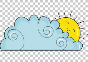云,手,画蓝色卡通云太阳PNG剪贴画水彩画,蓝色,哺乳动物,脊椎动物
