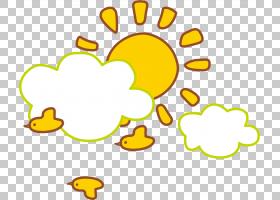云太阳,卡通黄色太阳PNG剪贴画卡通人物,食品,文本,简单,笑脸,贴