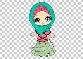 伊斯兰教穆斯林女孩头巾,穆斯林PNG剪贴画孩子,脸,蹒跚学步,头,人