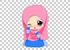 伊斯兰教穆斯林绘图,可爱的PNG剪贴画孩子,脸,手,人类,头,虚构人